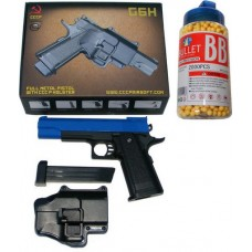 Galaxy Powered G6H Metal + Plastic Spring Powered BB Gun + Holster + 2000 Pellets
