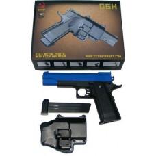Galaxy Powered G6H Metal + Plastic Spring Powered Blue BB Gun Pistol + Holster