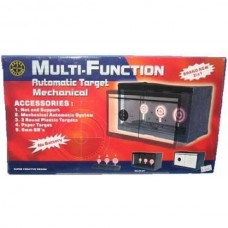 Multi-Function Mechanical Knock Down BB Gun Target with 3 Targets and Netting