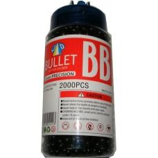 1 Tub of 2000 Black 0.15g Plastic 6mm BB Gun Pellets