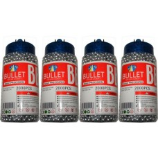 4 Tubs of 2000 Silver 0.15g Plastic 6mm BB Gun Pellets (8000 Pellets)