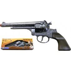 Gonher 12-Shot Die Cast Metal Cowboy Western Style Revolver Cap Gun