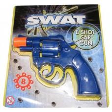 Blue Plastic 8 Shot Cap Gun Pistol