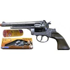 Gonher 12-Shot Die Cast Metal Cowboy Western Style Revolver Cap Gun & 240 Caps