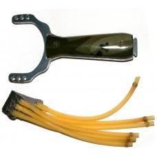 Metal & Plastic Slingshot Catapult - Camouflage Effect Handle
