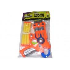 Plastic Alien Invasion Double Firing Foam Dart Shooter Gun with 6 Foam Darts